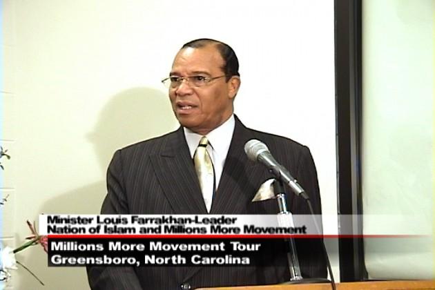 Minister Louis Farrakhan fra 'Nation of Islam'