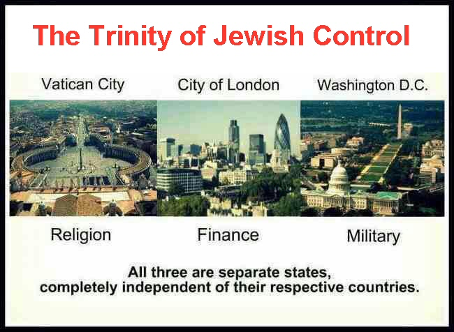 The Trinity of Jewish World Control