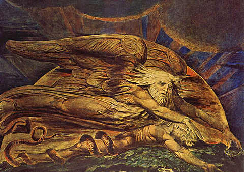 """Og Elohim skapte Adam"" av William Blake."