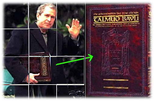 Bush Jr. /aka Scherff) på vei til Talmud klasse