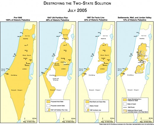 Den ene staten i 'To stat løsningen' blir stadig mindre.