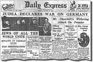 Judea declares war agains Germany
