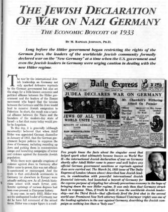 Hitler og sionistene samarbeidet om massedeportasjon av jøder til Palestina.
