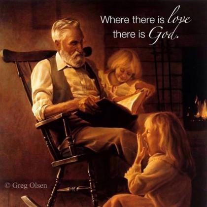 Tar en avstand fra Sønnen, Kjærligheten inkarnert, tar en også avstand fra Faderen, og Kjærligheten..