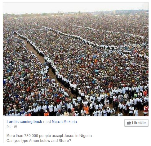 Jesus returns to 780.000 in Nigeria