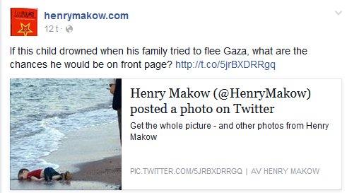 HVIS dette var et Palestinsk barn, ville det vært på alle forsider?