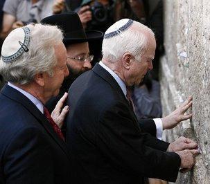 McCain ved klagemuren