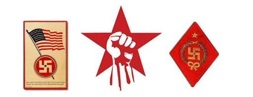 Swatika er brukt både hos høyre og venstre sosialisme