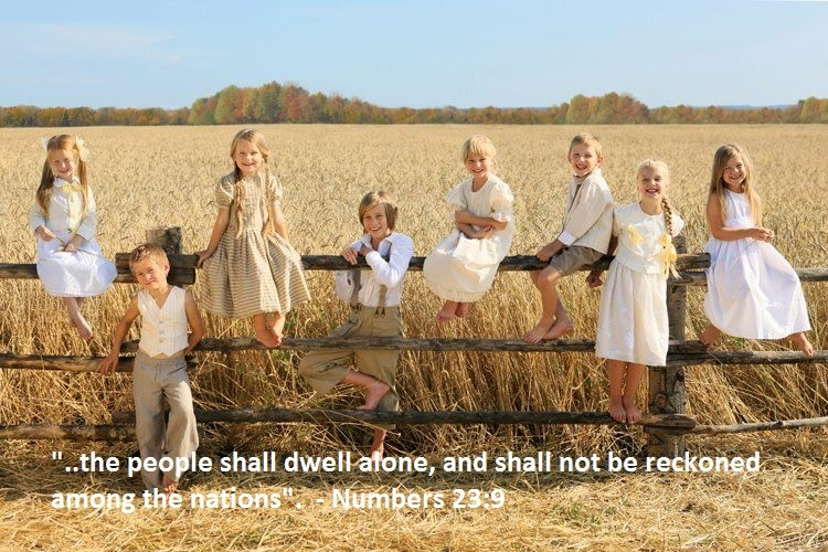 Caucasian Israelites; The People Who Shall Dwell Alone
